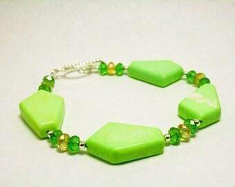 Green Chalk Turquoise Bracelet