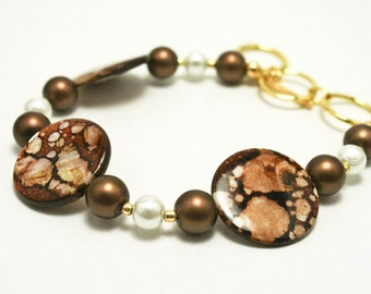 Brown Splatter Paint Bracelet