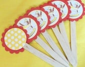 Curious George Cupcake Toppers Monkey Yellow Hat Kids Birthday Party