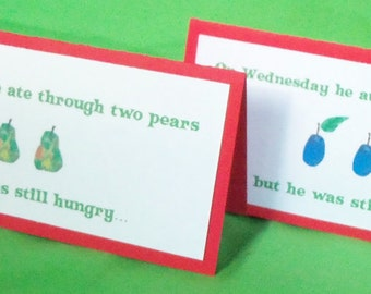 Very Hungry Caterpillar Food Tents