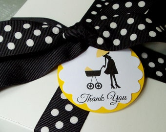 Baby Shower Carriage Favor Tags