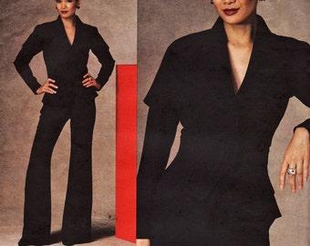 Vogue V1143 Guy Laroche Paris Original Designer Jacketf and Pants Pattern Sizes 4 to 10