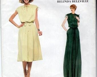Vogue 1928 Designer Original  Belinda Bellville Dress Size 10   Bust 32 1/2