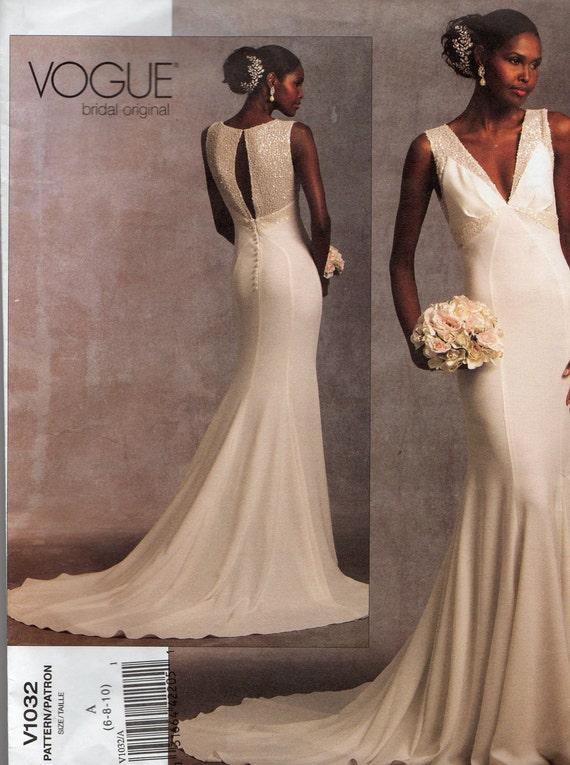 V1032 Vogue  Bridal Original Wedding Dress Size 6 to 10
