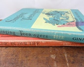 Vintage Blue and Red Music Book Collection - 1950's  Sheet Music Books - Singing Teenagers & Music in Our Life