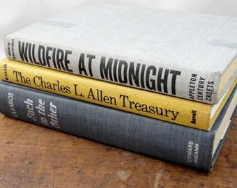 Vintage Yellow Grey Blue Book Collection