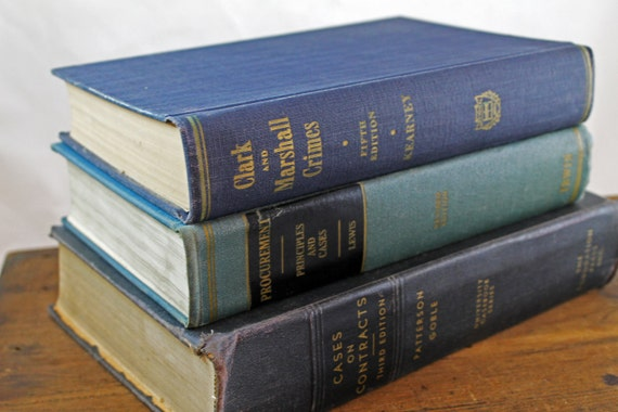 Vintage Blue Law Book Collection - 1950's
