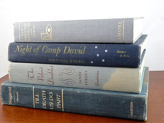 Vintage Blue Book Collection