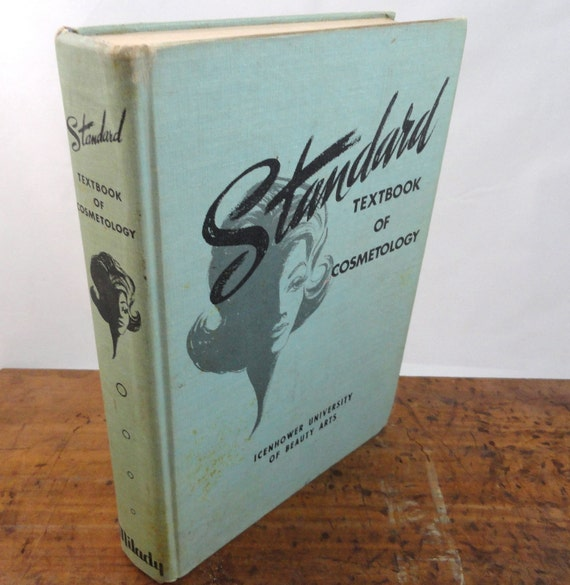Vintage Milday Textbook of Cosmetology - Midcentury Beauty Arts Lesson Book - Salon Hairstylist Photogrphy Prop