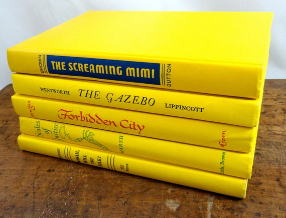 Vintage Yellow Book Collection