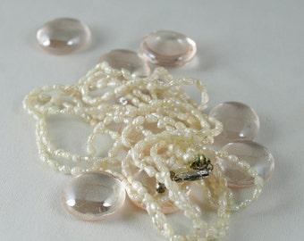 SALE 30% OFF Authentic Vintage Fresh Water Pearls in Three Stranded Necklace circa 1940s