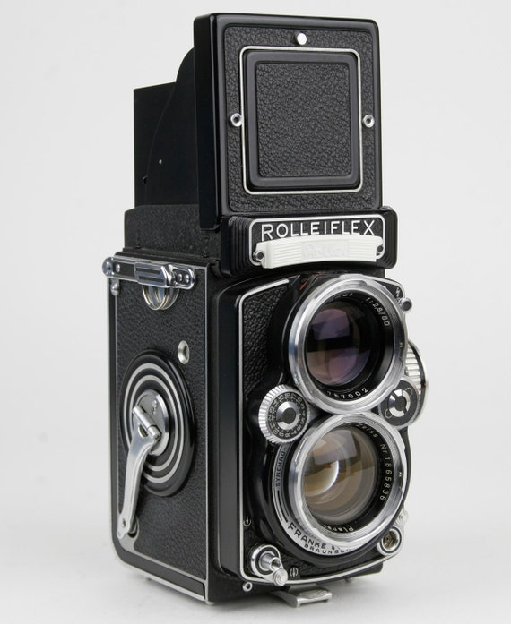 Reserved for Keely....Vintage Rolleiflex f2.8 E Camera with 80mm Karl Zeiss Planar Lens Circa 1950s