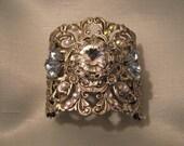 SILVER CUFF BRACELET Wedding jewelry Wedding bracelet Silver Cuff Bridal Bracelet Victorian Bracelet Bridal Jewelry Wedding Accessories
