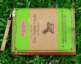 SALE-Clutch on You: the Noble Clyde of Sherwood iPad case, Book Clutch, Waterproof Pouch