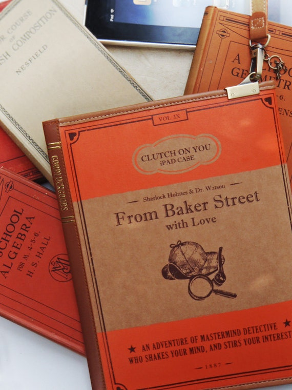 SALE - Clutch on You: From Baker Street with Love iPad case, Book Clutch, Waterproof Pouch
