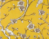 "Two  96""L x 50""W  Custom Curtain Panels - Robert Allen - Dwell Studio -  Vintage Blossom Citrine"