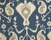 Two 26 x 26 Designer Decorative Pillow Covers in 100% Cotton Fabric - Ikat