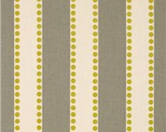 "Two  96"" x 50""  Custom Curtain Panels - Rod Pocket Panels -  LuLu Stripes - Grey/Citrine"