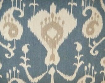 "Two 96"" x 50""  Custom Curtain Panels - Java Ikat - Blue or Spa"