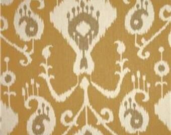 "Two  96"" x 50""  Custom  Curtain Panels  - Rod Pocket Panels - Java Ikat Design"