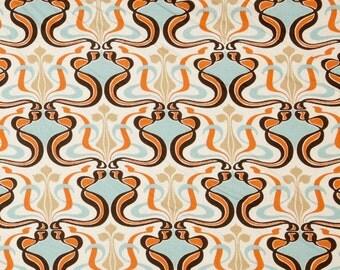 "Two 96"" x50""  Custom Curtain Panels - Rod Pocket Panels  in 100% Designer Cotton Fabric - Sweet Potato"
