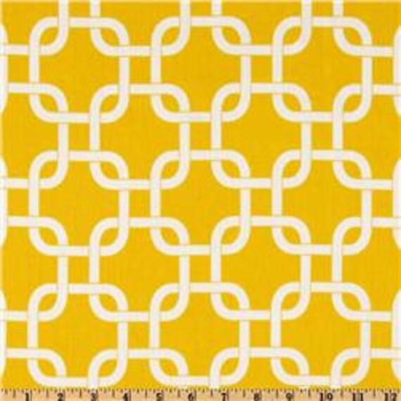 "Two  96"" x 50""  Custom Curtain Panels - Rod Pocket Panels -  Designer Fabric- Yellow Gotcha"