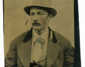 Portrait of Man with Mustache (Tintype)