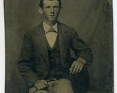 Portrait of Freckled Young Man (Tintype)