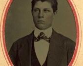 Intense Young Man (Tintype)