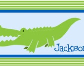Personalized Alligator Placemat