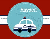 Personalized Police Car Placemat