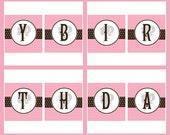 Vintage Barbie Printable Birthday Banner