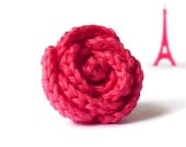 Pomegranate pink rose ring - original gift from France