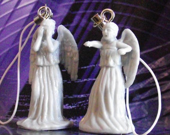 Doctor Who weeping angel bag or phone charm