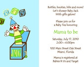 Jack in the Box Baby Shower Invitation