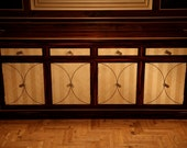 Buffet/sideboard in macasser & English sycamore