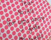 You Are My Fate e e cummings poetry embroidery art