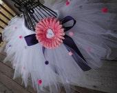 Pink and Purple Tutu, Valentine Tutu, Birthay Tutu, Valentine Outfit, First Birthday Outfit, White tutu, Polka dot Tutu, Cute Girl Tutu,