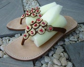 Mare Jeweled  Leather Sandals 022
