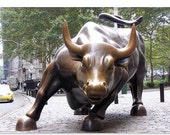 "The Wall Street Bull Photographic Art Print (3687) 40""x26"""