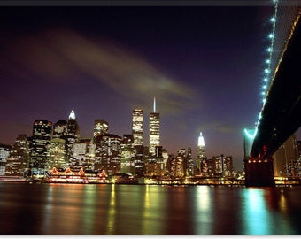 "Downtown New York Canvas Giclee Art Print (61) 12""x8"""