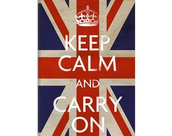 "Keep Calm and Carry on (british Flag) (5023) 12""x8"""