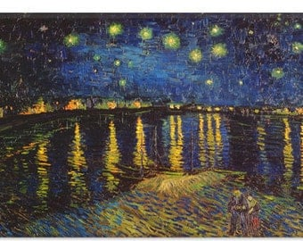 """Starry Night Over The Rhone by Vincent Van Gogh (1322) 40""""x26"""""""