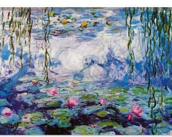 "Nympheas By Claude Monet Canvas Giclee Art Print (327) 26""x18"""