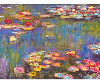 "Water Lilies, 1916 by Claude Monet Canvas Art Print (1313) 40""x26"""