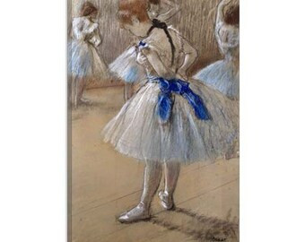 "A study of a dancer (Danseuse) by Edgar Degas Canvas Art Print (1059) 12""x8"""