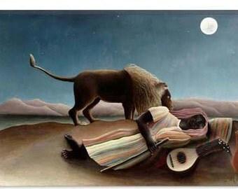 items similar to sleeping gypsy with werewolf on etsy