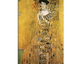 "Portrait of Adele Bloch-Bauer I by Gustav Klimt Canvas Art Print (1099) 40""x26"""