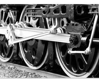 "Antique Train Canvas Giclee Art Print (48) 12""x8"""
