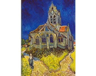 "Church At Auvers by Vincent Van Gogh Canvas Art Print (1320) 18""x12"""